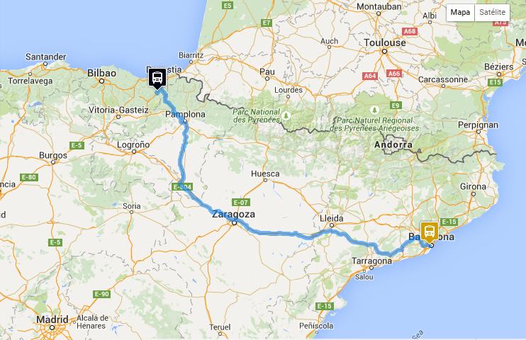 Carte Barcelone Sants.Tolosa Barcelone Monbus