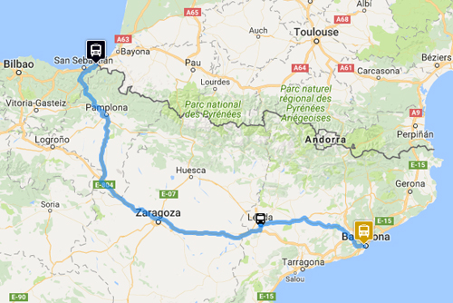 IRÚN - BARCELONA - Bus offers - Monbus